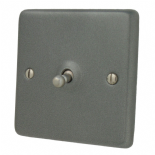 Standard Plate Pewter Toggle Light Switches